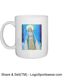 Mother Mary Textured Design Zoom