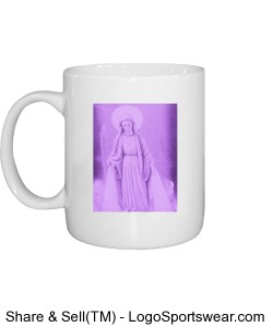 Mother Mary Purple Design Zoom